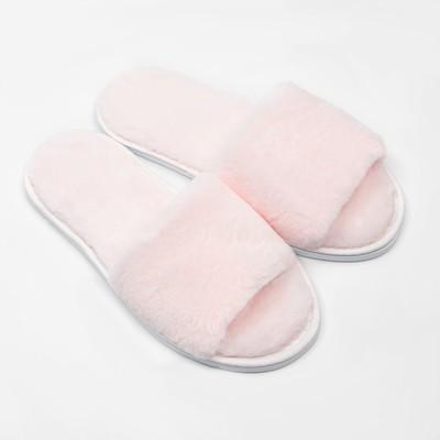 Тапочки женские, цвет розовый, размер 36-38 - Фото 1