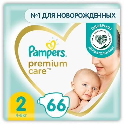 Подгузники Pampers Premium Care Mini (4-8 кг), 66 шт - Фото 1