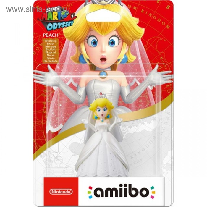 Интерактивная фигурка Amiibo, Пич Свадьба (коллекция Super Mario)
