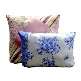 Подушка, 50х70 см, полиэфирное волокно, цвет МИКС