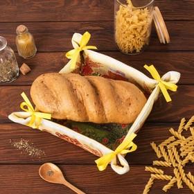 Хлебница 'Доляна' Хлебосолье 30*30 см, 100% хлопок, рогожка 162 г/м2 Ош