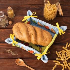 Хлебница 'Доляна' Пэчворк 30*30 см, 100% хлопок, рогожка 162 г/м2 Ош