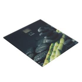 Весы напольные Irit IR-7257, электронные, до 180 кг, рисунок 'бамбук и камни' Ош