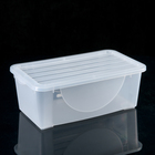 Контейнер для хранения с крышкой 6 л, 35×20×13 см, цвет МИКС