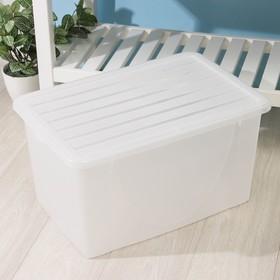 Контейнер для хранения с крышкой, 40 л, 56×37,5×30 см, цвет МИКС