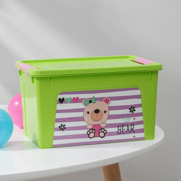 Контейнер с декором Алеана Smart Box, 3,5 л, цвет МИКС
