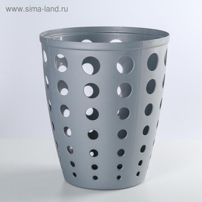 """Корзина для бумаг 13,5 л """"Евро"""", цвет МИКС"""
