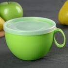 Чашка с крышкой 0,5 л, цвет МИКС