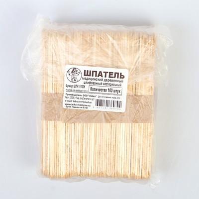 Шпатель нестерильный деревянный шлифованный, 150*18*1,8, 100 шт в упак.