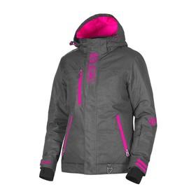 Куртка FXR Pulse без утеплителя, размер S-M, серый, розовый Ош