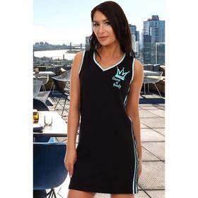 Платье женское, цвет чёрный/ментоловый, размер 50 Ош