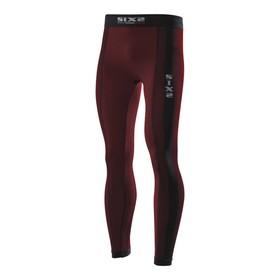 Термоштаны SIXS PNX, размер S, чёрный, красный