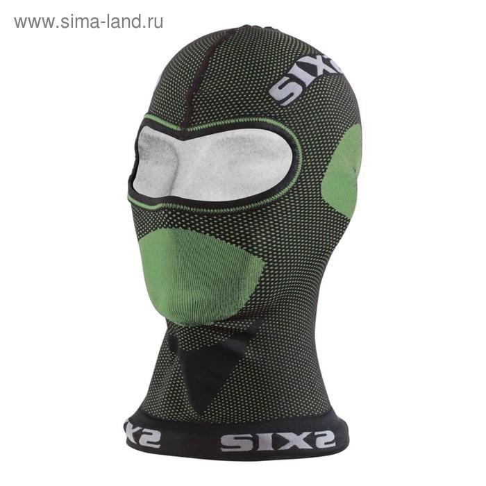 Балаклава SIXS DBX, размер универсальный, серый, зелёный