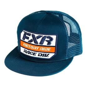 Бейсболка FXR Race Division, синий, оранжевый, белый