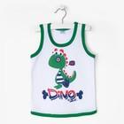 Майка для мальчика Dino, цвет зелёный, рост 80-86 см