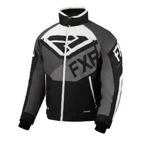 Куртка FXR Fuel с утепленной вставкой, размер L, чёрный, серый, белый Ош