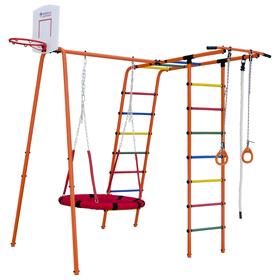 Детский спортивный комплекс уличный Street 1, цвет оранжевый/радуга