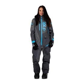 Комбинезон FXR Recruit без утеплителя, размер S-M, серый, голубой Ош