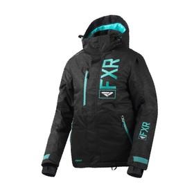 Куртка FXR Fresh с утеплителем, размер S-M, серый, чёрный, зелёный Ош
