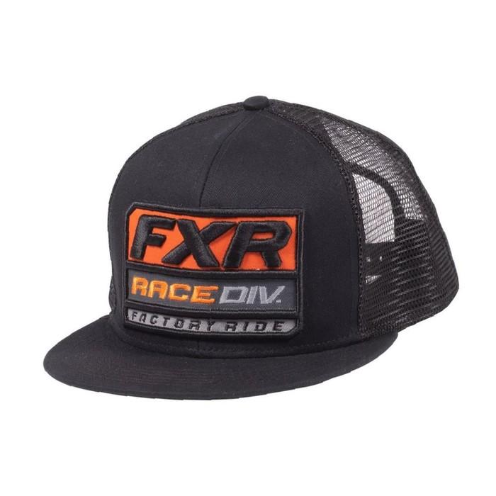 Бейсболка FXR Race Division, размер универсальный, чёрный, оранжевый