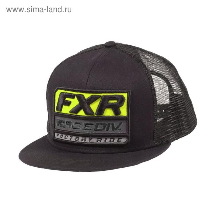 Бейсболка FXR Race Division, размер универсальный, чёрный, жёлтый