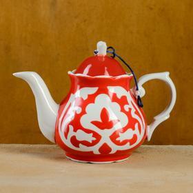 Чайник Слоник 1 л код 5000 Пахта красная