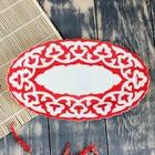 Тарелка овальная 290 код 3003 Пахта красная 29см - Фото 2