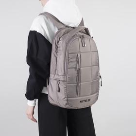 Рюкзак молодёжный, 2 отдела на молниях, наружный карман, 2 боковых кармана, цвет бежевый