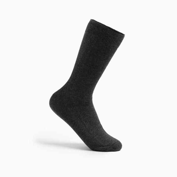 Носки мужские ПИЛОТ, цвет асфальт, размер 25