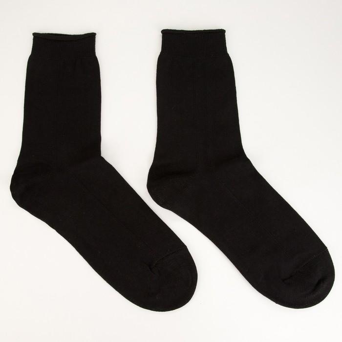 Носки мужские ПИЛОТ, цвет чёрный, размер 29