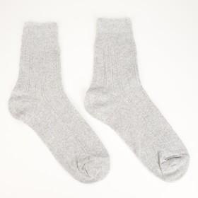 Носки женские с медицинской резинкой GRAND LINE, цвет светло-серый, размер 25