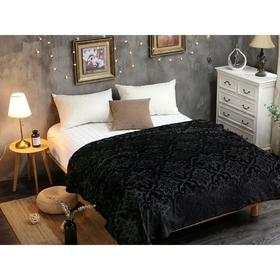 Плед Moreska, размер 150 × 200 см, цвет чёрный, велсофт