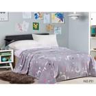 Плед «Бамбино», размер 150 × 200 см, цвет сиренево-серый, велсофт 280 гр/м2