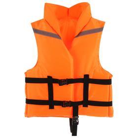 Жилет страховочный с подголовником, размер 56-62, цвет оранжевый Ош