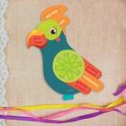 Вышивка лентами «Попугай» для самых маленьких. Набор для творчества