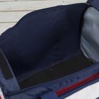 Сумка спортивная, отдел на молнии, 4 наружных кармана, длинный ремень, цвет синий - Фото 3