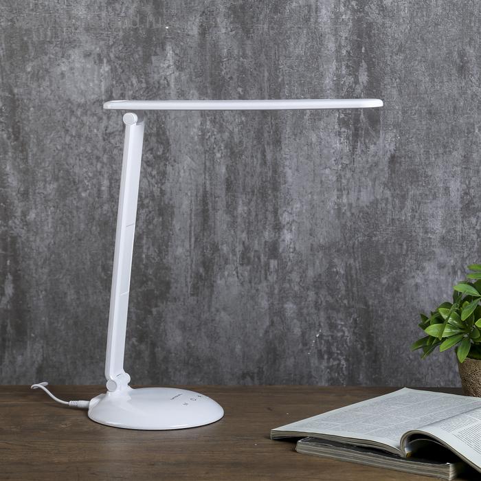 Светильник настольный 3 режима яркости 1х9Вт LED белый