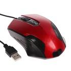 Мышь Qumo M14 Office, проводная, оптическая, 3 кнопки, 1000 dpi, USB, красная