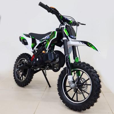Мини кросс бензиновый MOTAX 50 cc, с электростартером, бело-зеленый