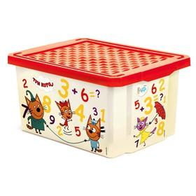 Детский ящик «Обучайка. Считай», 17 литров, Три кота