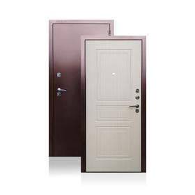 Сейф-дверь ARGUS «Гранд Ясень», 870 × 2050 левая, цвет антик медь / белый ясень