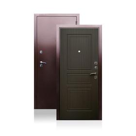 Сейф-дверь ARGUS «Гранд Венге», 870 × 2050 левая, цвет антик медь / венге