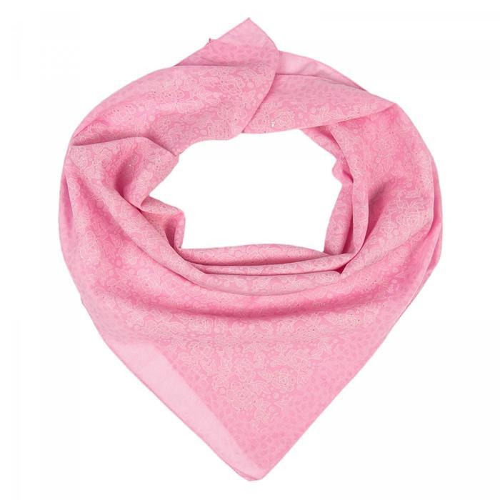 Платок женский, цвет розовый, размер 70х70