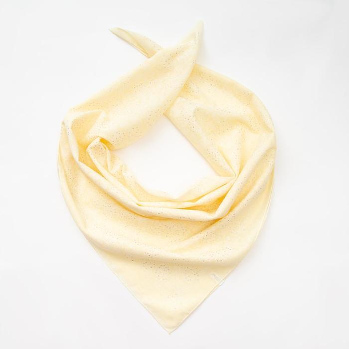 Платок женский, цвет светло-жёлтый, размер 70х70