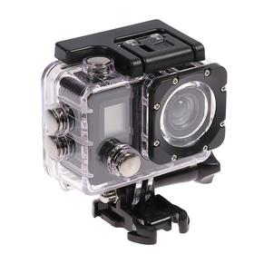 Экшн-камера Luazon RS-01, 4К, Wi-fi, пульт, чехол для подводной съемки, черная Ош