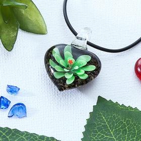 Кулон 'Муранское стекло' натурель, сердце цвет МИКС Ош
