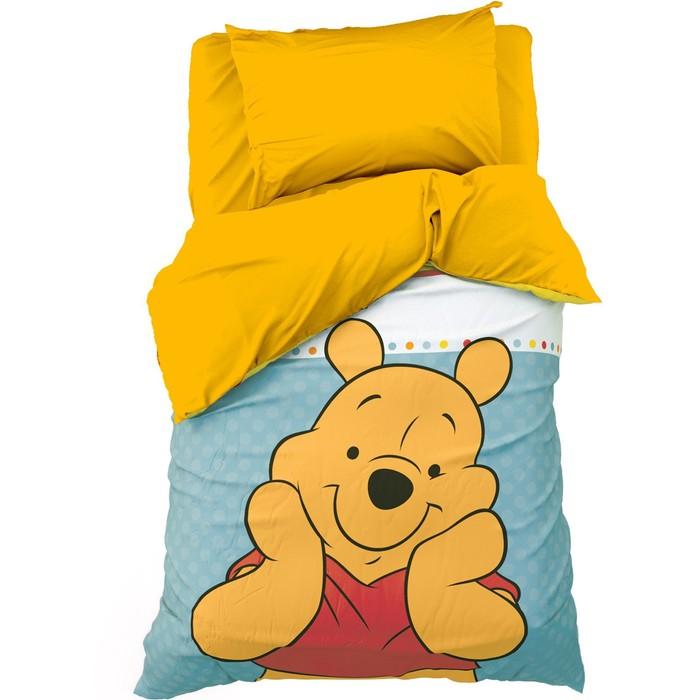 """Детское постельное бельё 1,5 сп """"Медвежонок Винни"""" 143х215 см, 150х214 см, 50х70 см -1 шт., поплин 125 г/м2"""