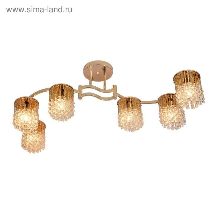 Люстра Annabelle 6x60Вт E14 золото