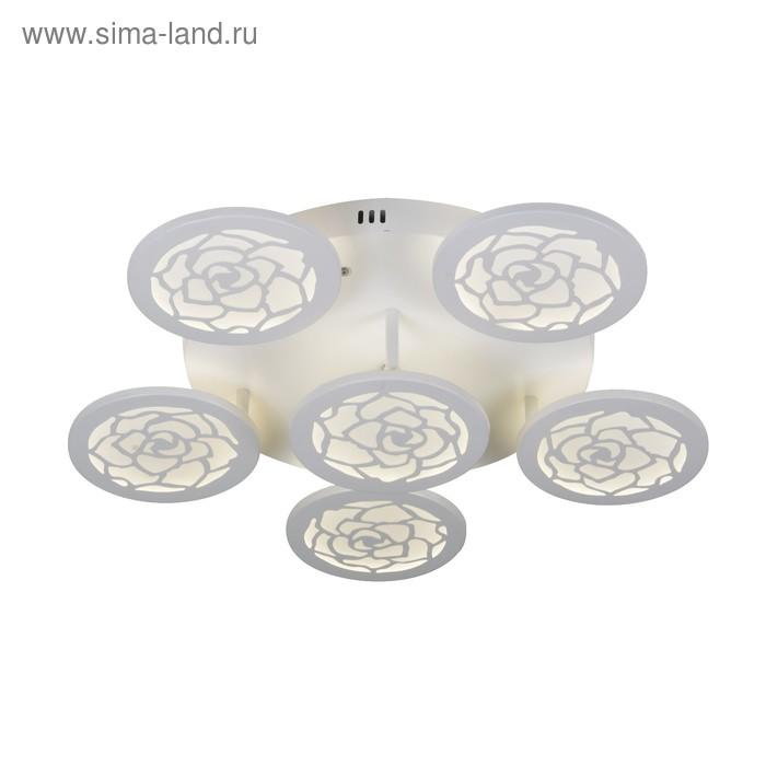 """Люстра """"Абвиль"""" 108Вт LED белый с ПДУ"""