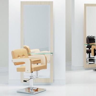 Зеркало парикмахерское, Solus, цвет ванила